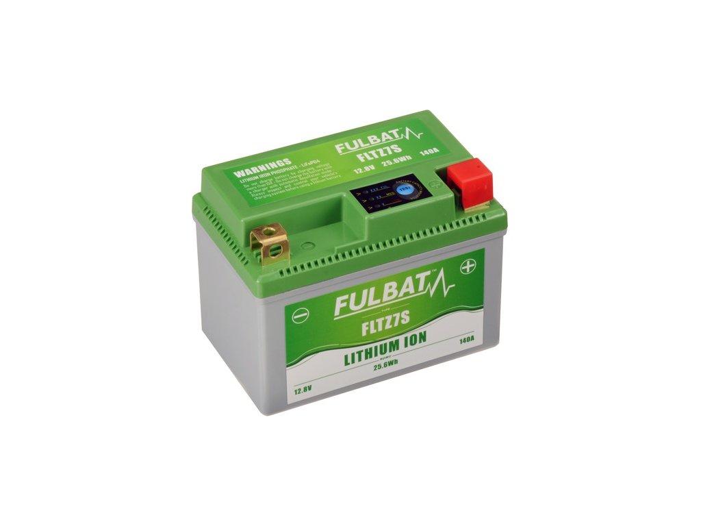 lithiová baterie  LiFePO4  YTZ7S FULBAT  12V, 2Ah, 140A, hmotnost 0,42 kg, 113x70x85