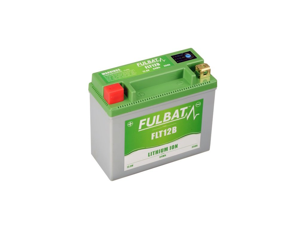 lithiová baterie  LiFePO4 YT12B-4 FULBAT  12V, 5Ah, 350A, hmotnost 0,82 kg, 150x66x130