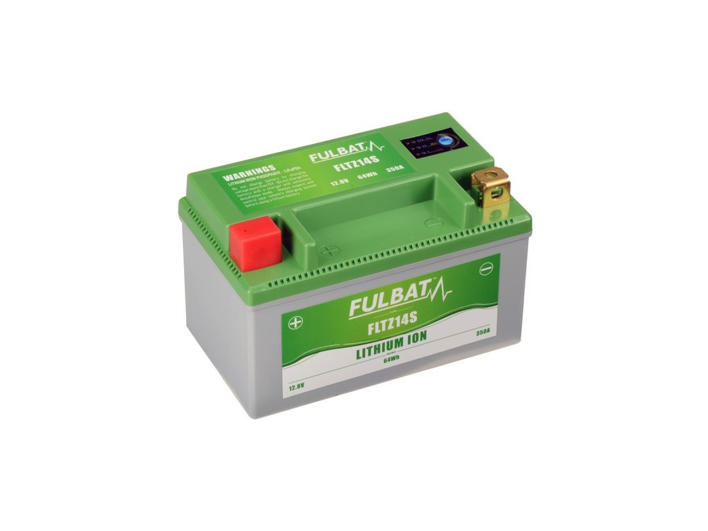 lithiová baterie  LiFePO4  YTZ14S  FULBAT  12V, 5Ah, 350A, hmotnost 0,85 kg, 150x87x93