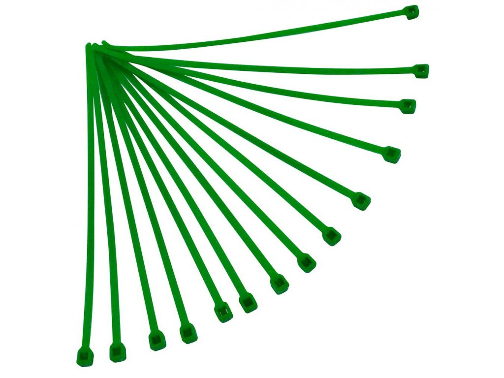 stahovací páska 280x4,8 mm, RTECH (zelená, 100 ks)