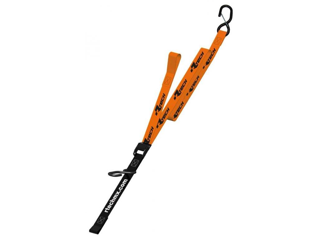upínací popruhy s rychloupínací spojkou (šířka 38 mm / délka 2 m / nosnost 550 kg), RTECH (1 pár, oranžový)