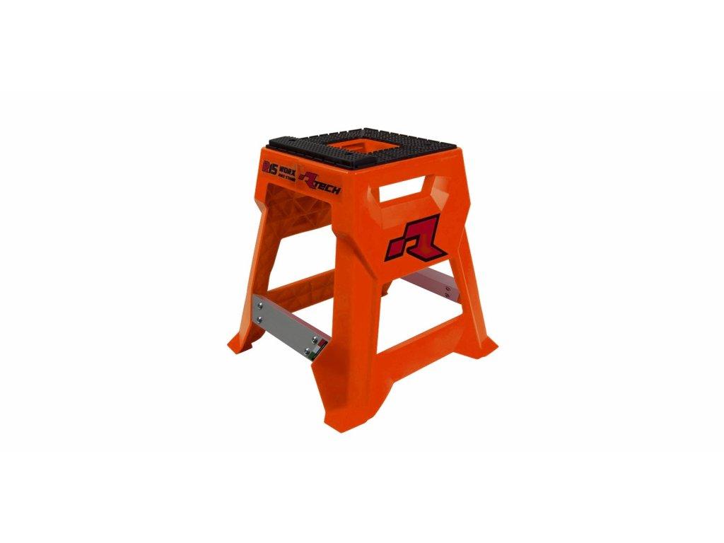 stojan MX R15 (technopolymer / hliník), RTECH (neon oranžová/černá)