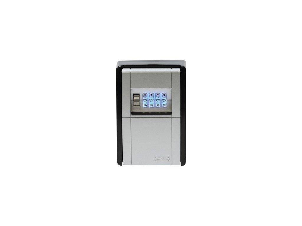 univerzální schránka na klíče se 4 místným kódem KeyGarage LED (rozměry 80 x 45 x 120 mm), ABUS