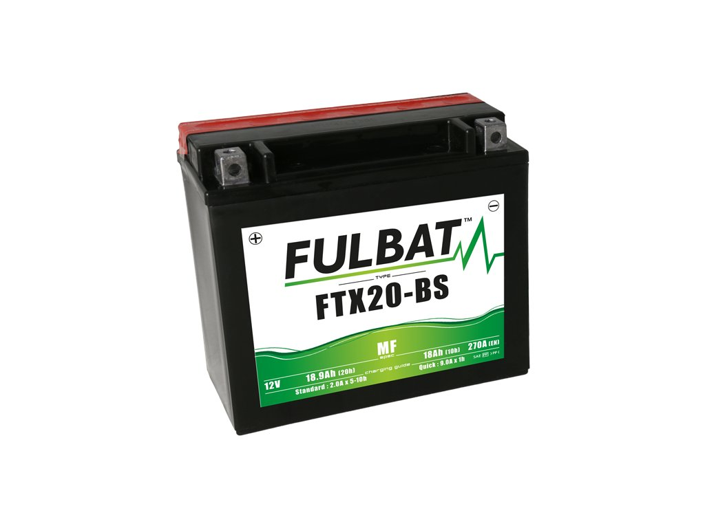 FULBAT baterie 12V/18Ah FTX20-BS (YTX20-BS) ACCESS SHADE, XTREME, ARCTIC CAT, HARLEY DAVIDSON