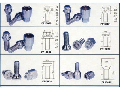 3126 sada bezpecnostnich sroubu m12 x 1 5 delka zavitu 52mm kuzelove sedlo