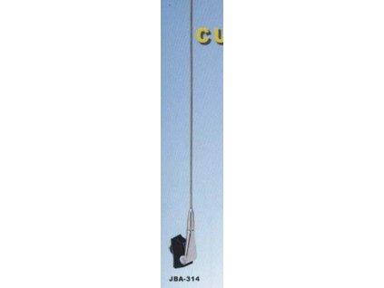 5010 stresni antena s kloubem chrom delka 66cm kabel 122cm