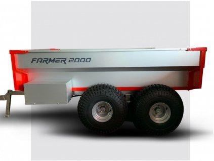 Sklápěcí elektrohydraulický vozík za čtyřkolku FARMER 2000