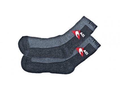 Ponožky černošedé termo, silné ACI (1 pár)