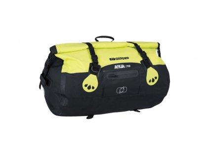 vodotěsný vak Aqua T-70 Roll Bag, OXFORD (černý/žlutý fluo, objem 70 l)