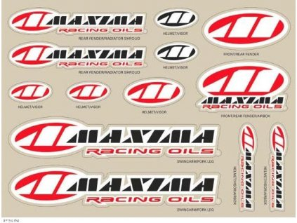 MAXIMA RACING DECAL SHEET 12 MIL 11inx14in
