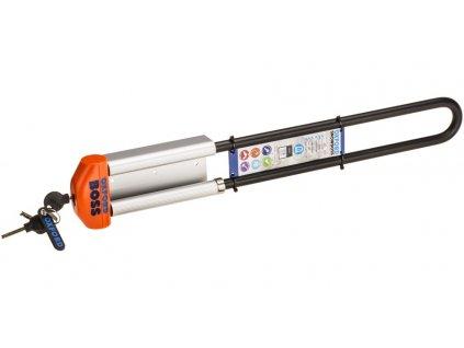 zámek na sněžné skútry SNOWBOSS SSF, OXFORD (oranžová, sada vč. držáku na zámek, průměr čepu 15 mm, pro š. pásu do 520 mm)