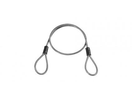 lanko ocelové LOCKMATE12 pro zámky, OXFORD (čirý plášť, délka 1,2 m, průměr 12 mm)