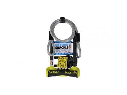 zámek U profil Shackle 14 DUO, OXFORD (žlutý/černý, 320x177 mm, průměr čepu 14 mm)