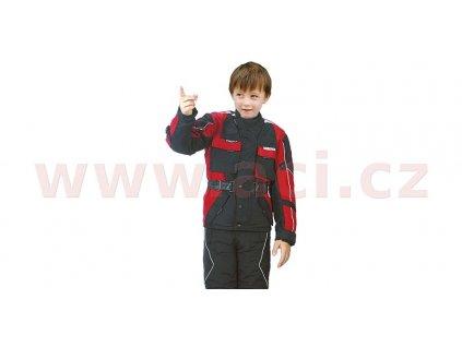 bunda Taslan, ROLEFF, dětská (černá/červená)