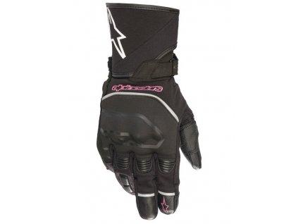 rukavice STELLA ANDES TOURING DRYSTAR, ALPINESTARS (černá/fialová)