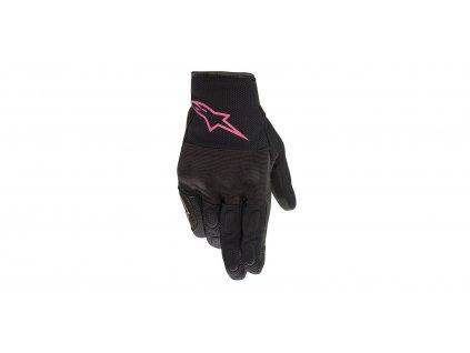 rukavice STELLA S MAX DRYSTAR, ALPINESTARS (černá/růžová)