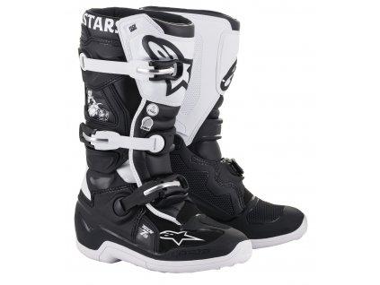 boty TECH 7 S 2021 limitovaná edice DIALED, ALPINESTARS, dětské (černá/bílá)