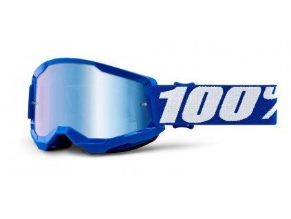 STRATA 2 100% - USA , dětské brýle modré - zrcadlové modré plexi