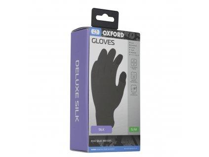 vložky do rukavic hedvábí, OXFORD (černé)