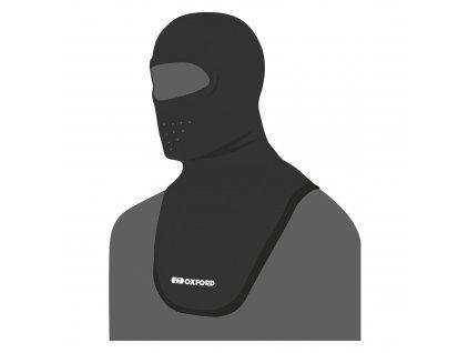 kukla Balaclava Deluxe Micro Fleece, OXFORD (černá, s průduchy a dlouhým límcem)