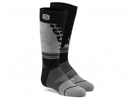 ponožky TORQUE dětské (černá/šedá)