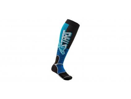ponožky MX PRO SOCKS 2021, ALPINESTARS (tyrkysová/černá)