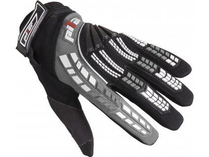rukavice PIONEER, PILOT (černá/šedá)