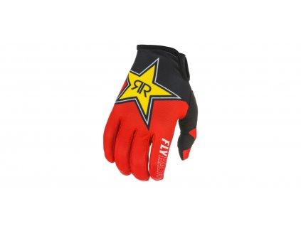 rukavice LITE 2021 ROCKSTAR, FLY RACING (černá/červená/žlutá)