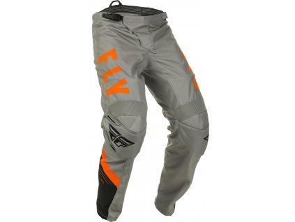 kalhoty F-16, FLY RACING (šedá/černá/oranžová)