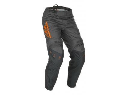 kalhoty F-16 2021, FLY RACING dětské (šedá/oranžová)