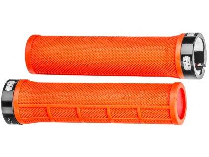 gripy LOCK-ON se šroubovacími objímkami a menší tl. úchopu, OXFORD (červené, délka 130 mm, 1 pár)