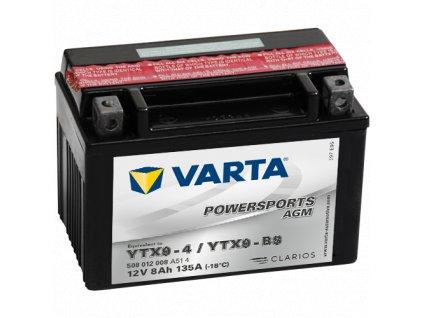 Varta 12V/8Ah moto LF (YTX9-4/YTX9-BS) Linhai M150, 200