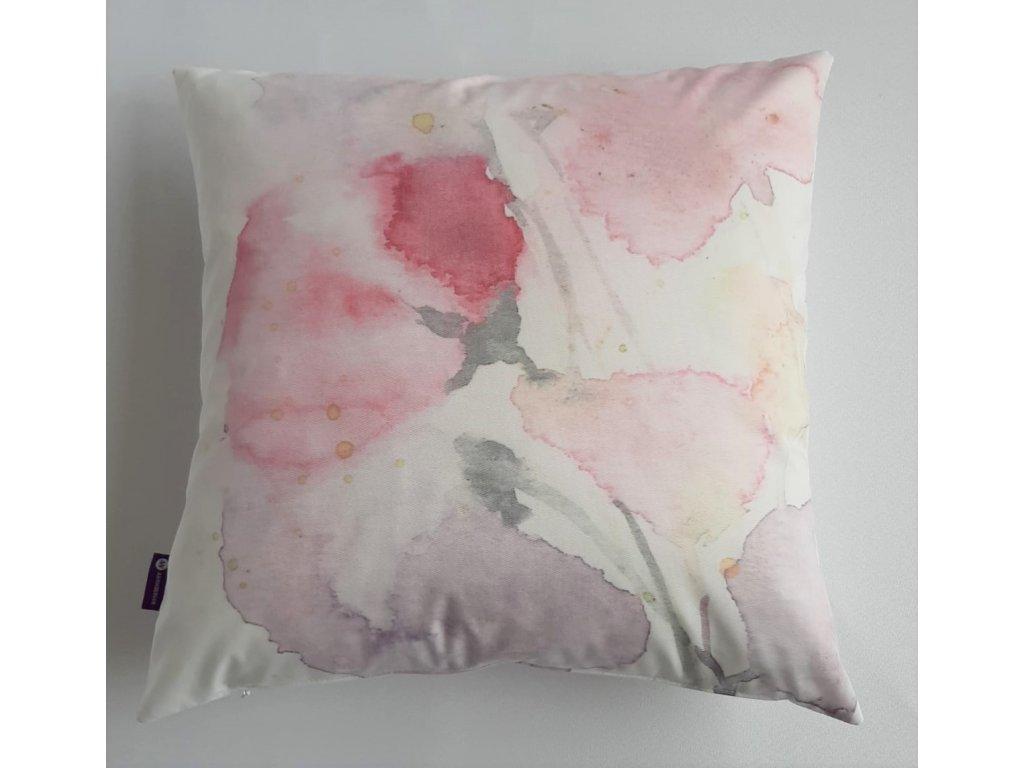 Polštář a povlak - Růžové květy