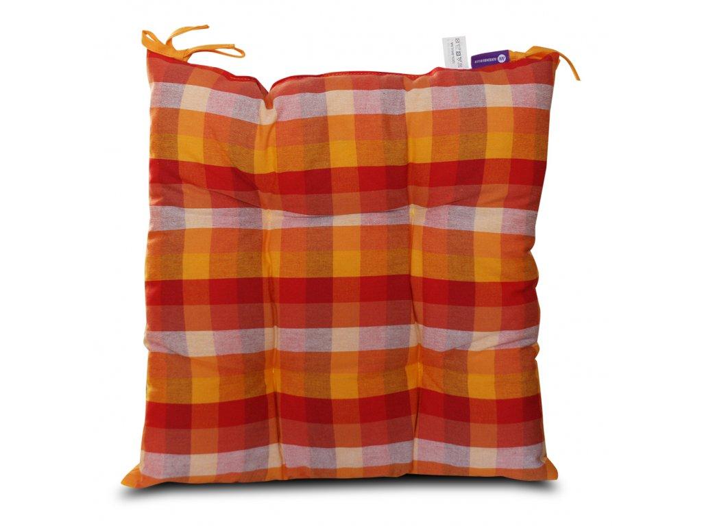 Sedák na židli s výplní A.WEINBERGER 40x40cm - červená/oranžová kostka