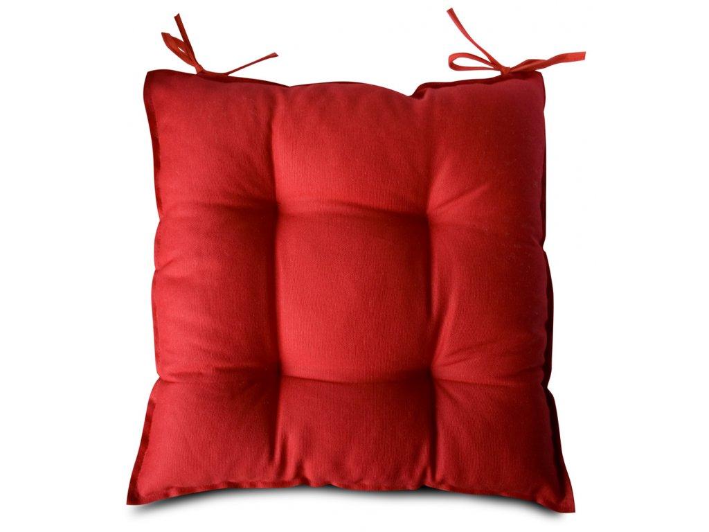 Sedák na židli s výplní A.WEINBERGER 40x40cm - červený