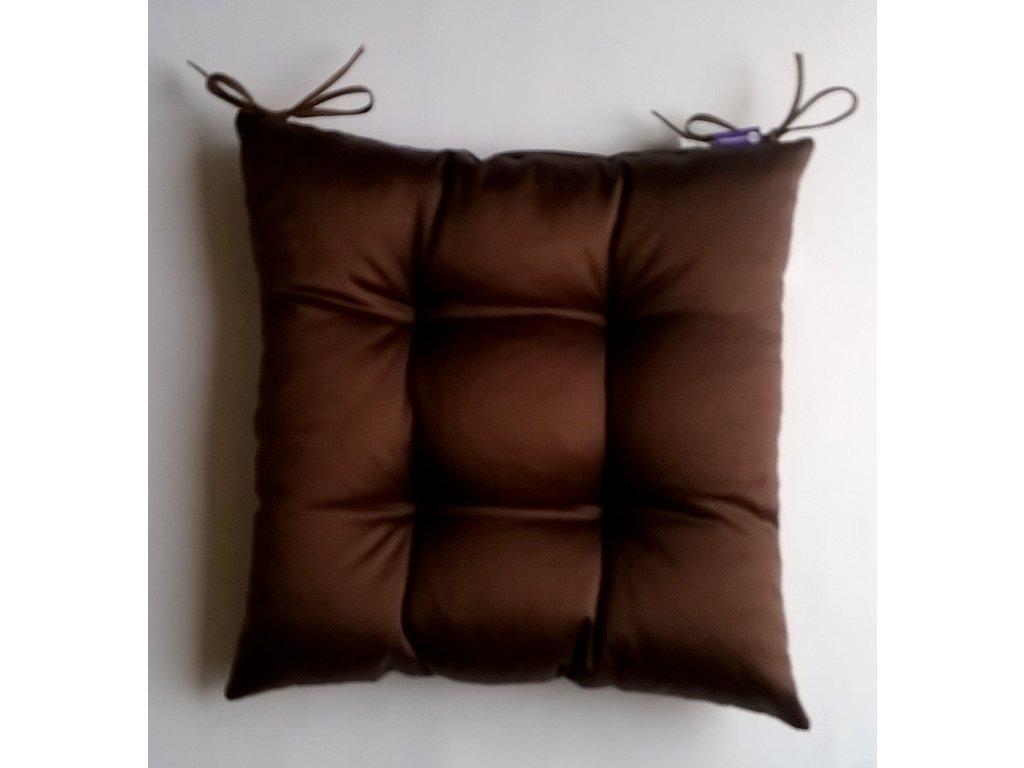 Sedák na židli s výplní A.WEINBERGER 40x40cm uni tmavě hnědá