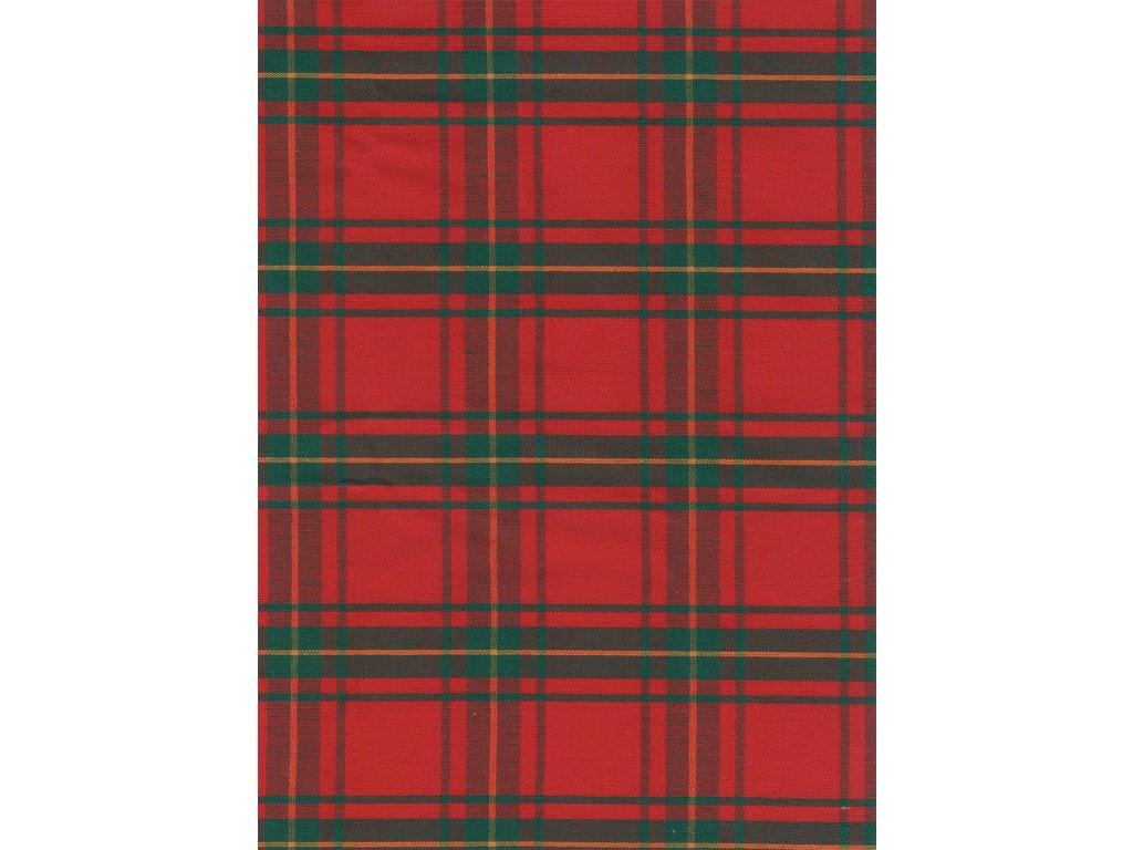 Ubrus  Vánoční kostka červená