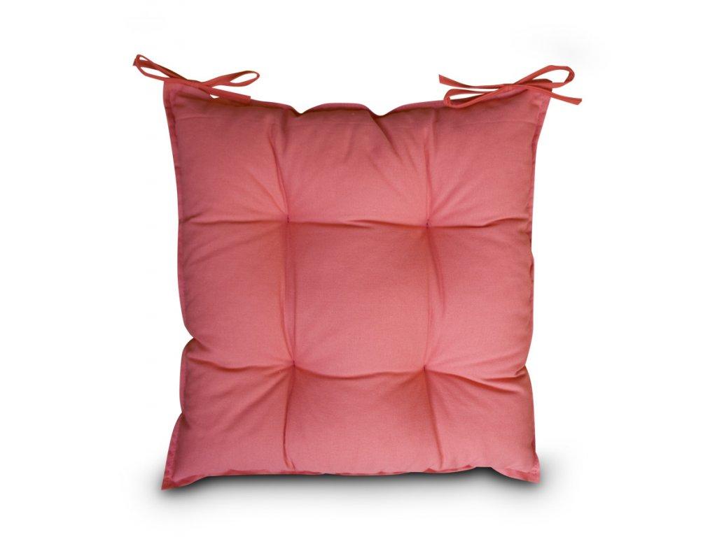 Sedák na židli s výplní A.WEINBERGER 40x40cm - světle červený