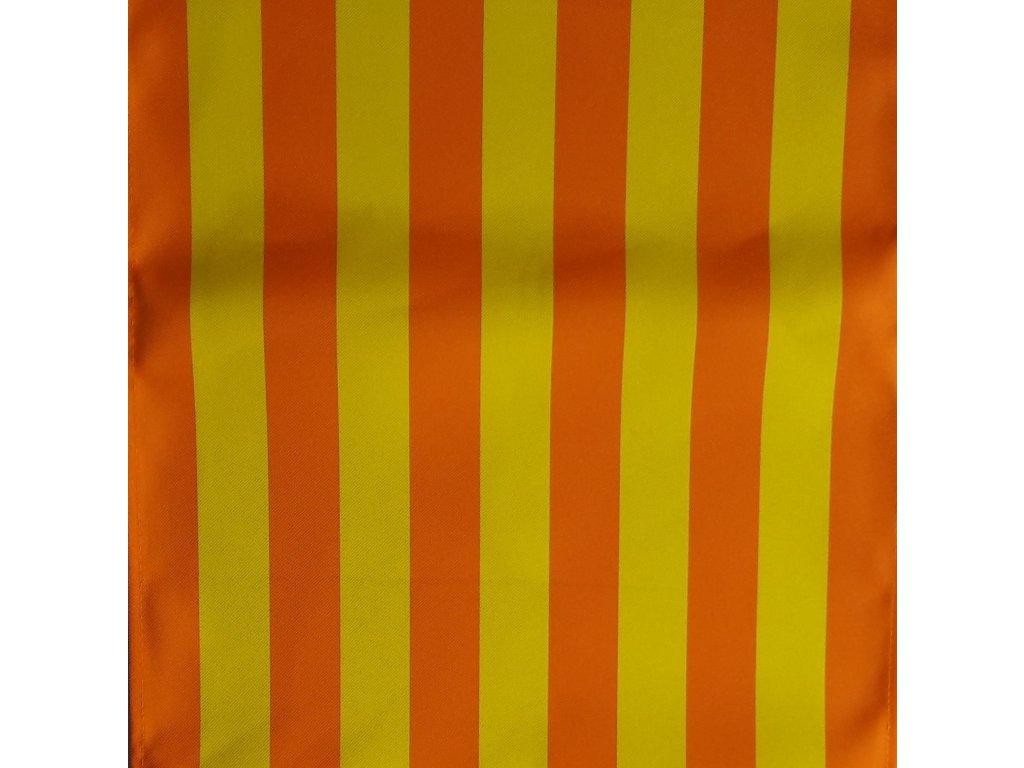 Lehátkovina pruh oranžovo-žlutý šíře 45 cm