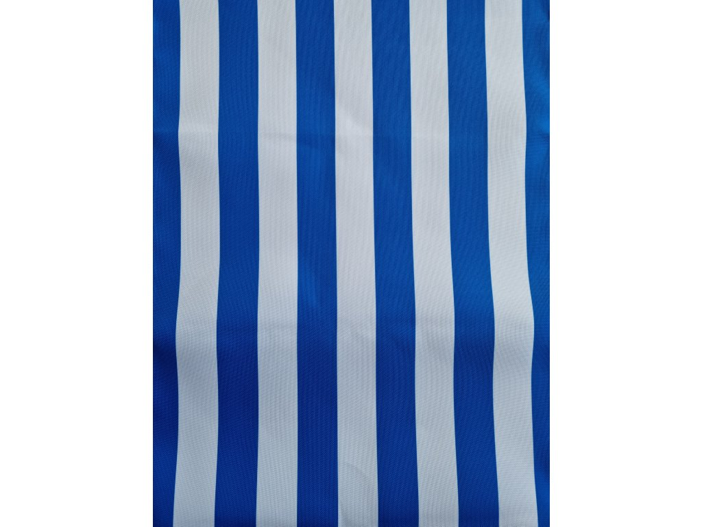Lehátkovina  modro-bílá pruh šíře 45 cm