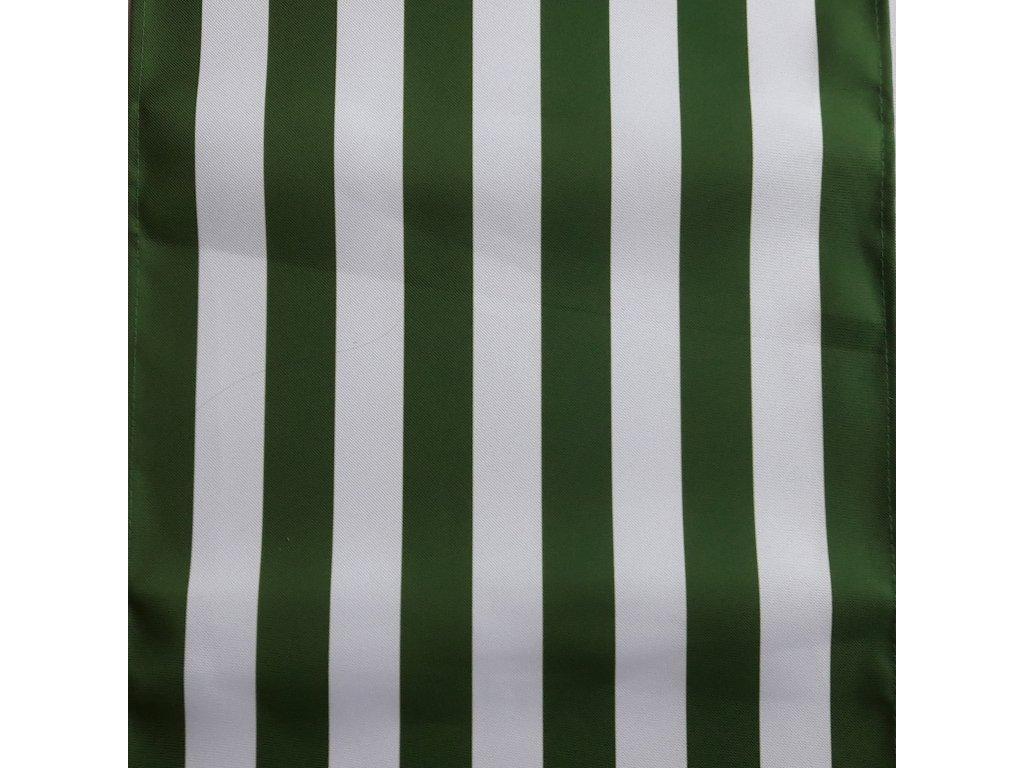 lehátkovina pruh zeleno-bílá šíře 45 cm