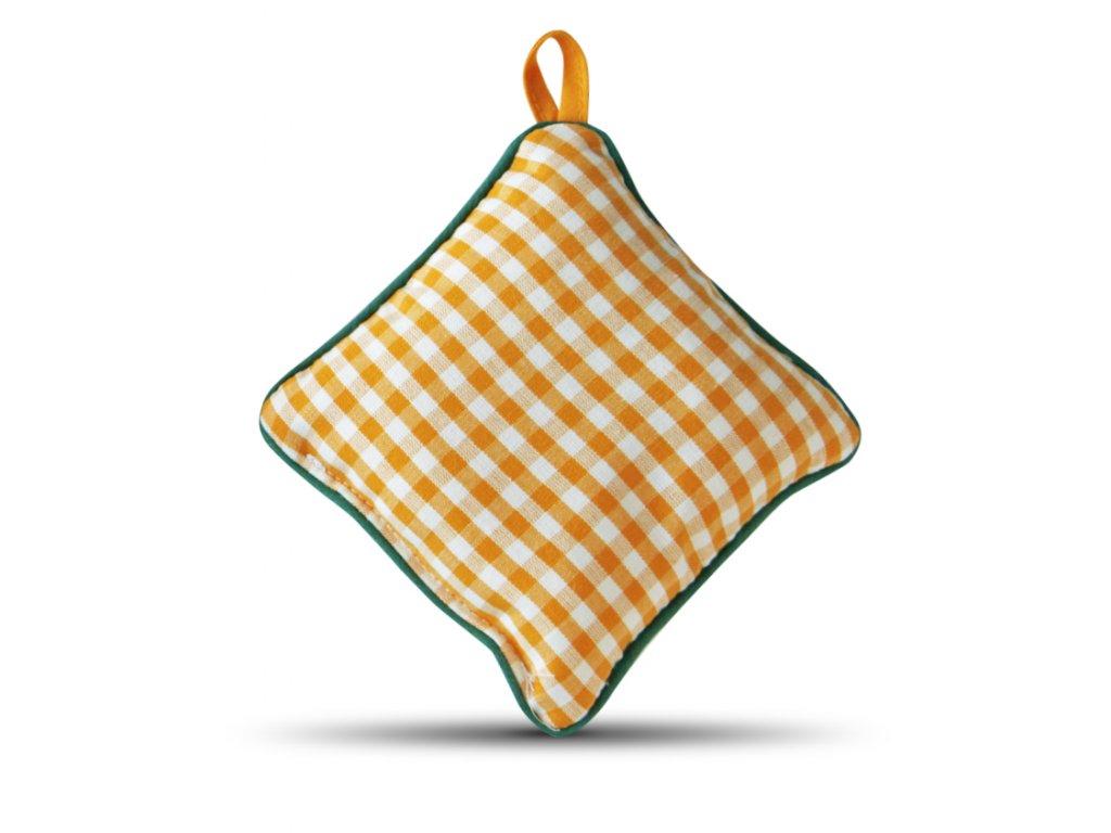 Jehelníček žlutá kostiřka zelený lem
