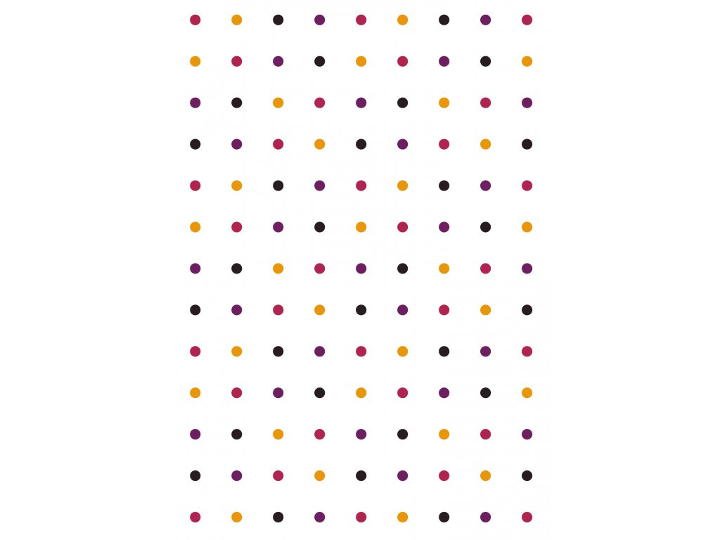 rw latky vzory puntiky oranzova bila 0008
