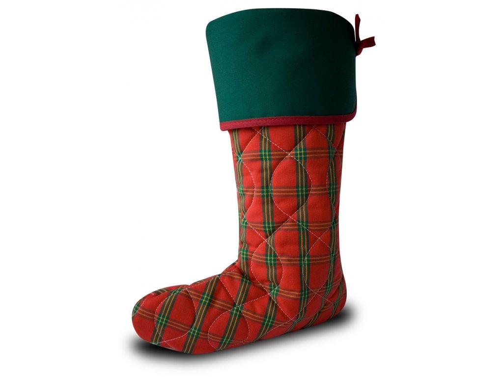 Vánoční nadílková bota červená
