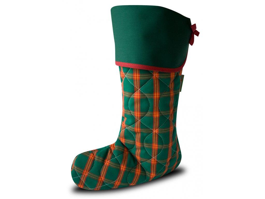 Vánoční nadílková bota zelená