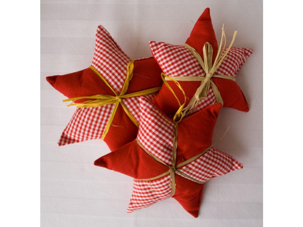 Vánoční ozdoba hvězdička červená