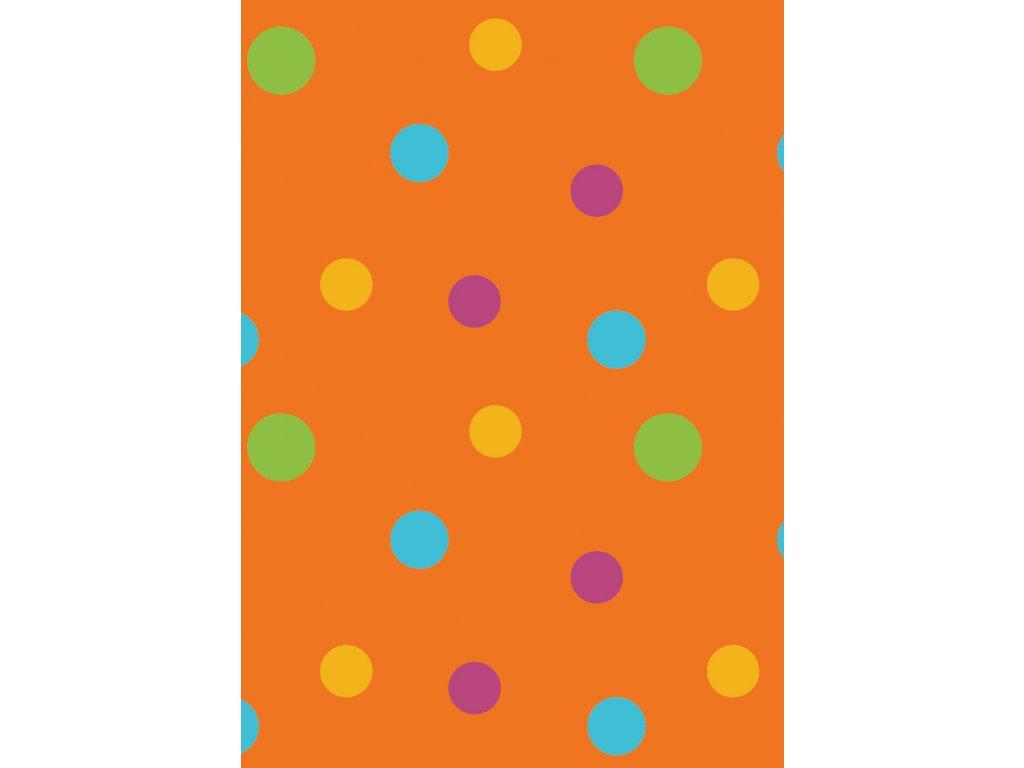 rw latky vzory puntiky oranzova 0013 02
