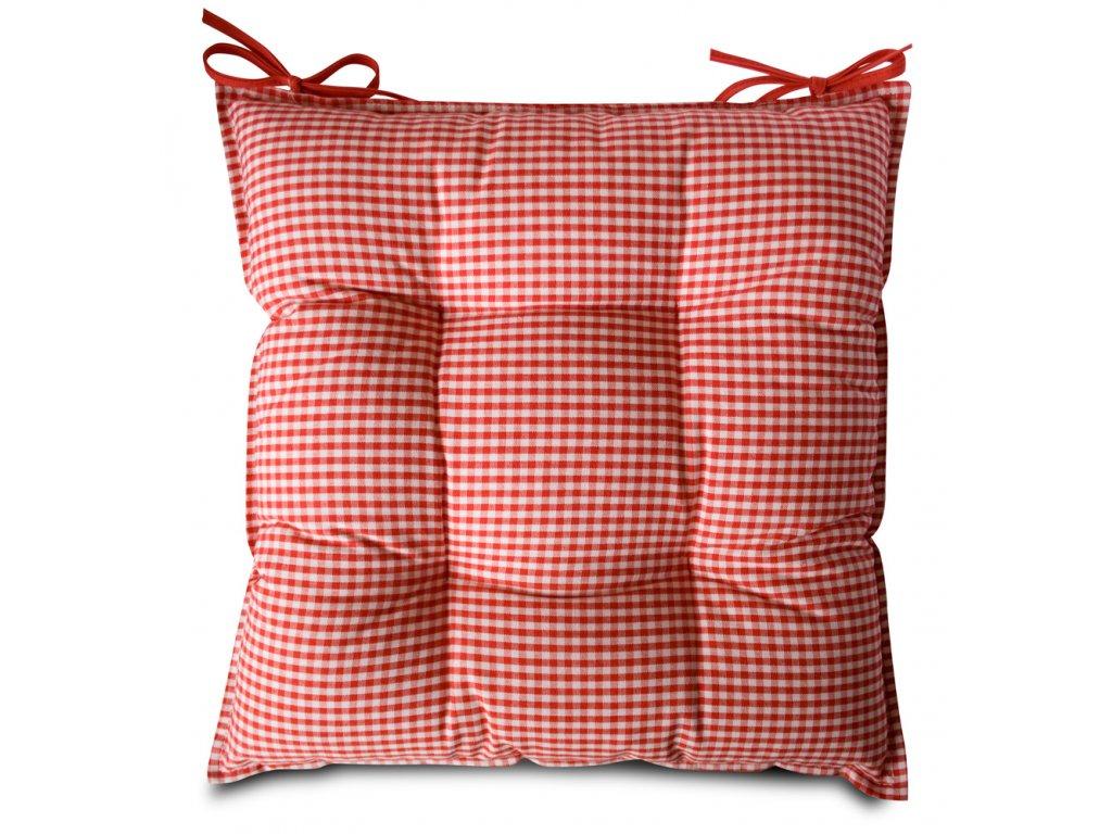 Sedák na židli s výplní A.WEINBERGER 40x40cm - červená kostička 1