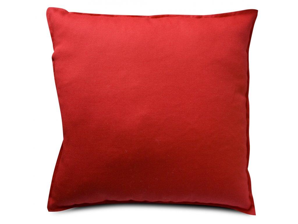 Polštář 40x40cm - potah s výplní - červený