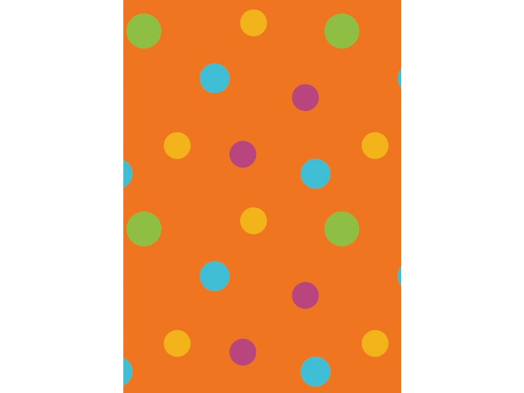 thumbnail rw latky vzory puntiky oranzova 0013 02